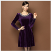 /product-detail/ms60290w-women-wear-fall-velour-beaded-long-sleeve-fat-size-ladies-dress-60082405812.html