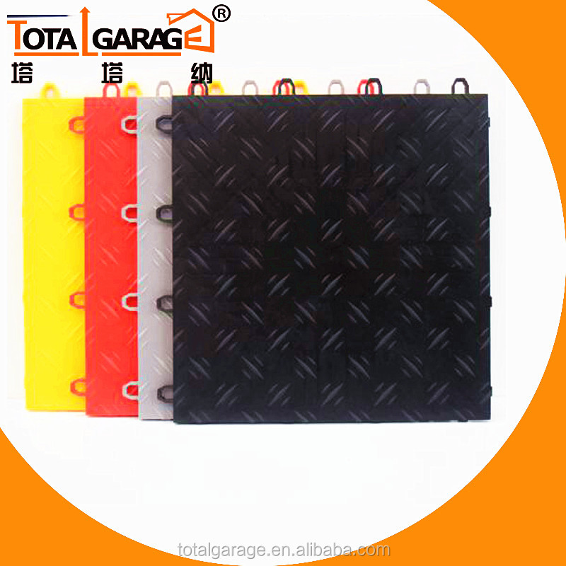 Heavy Duty removable Interlocking PVC Garage Floor Tiles