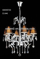 modern new style fabric and crystal hanging pendant light for hotel