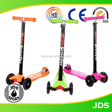 2017 certificate approval hot sale children adjustable wholesale 3 wheel kids scooter