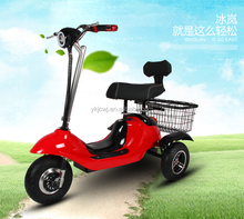 3 wheel electric bicycle three wheel motor scooter electric tricycle for adults with two seats