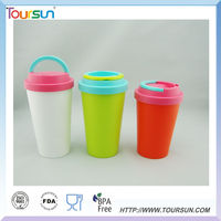 duoble wall PP plastic coffee mug