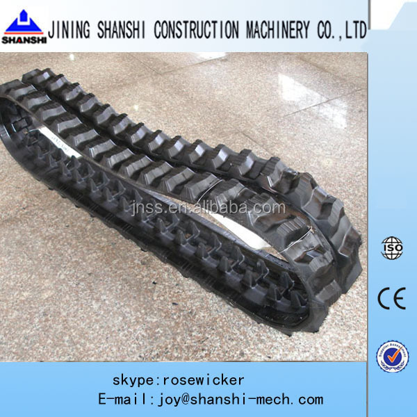 EX40 rubber belt ,EX45UU rubber track,mini small excavator rubber crawler