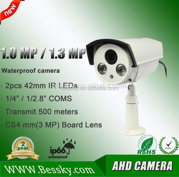 2015 New Product Weatherproof IR 1.0 Megapixel High Definition AHD Camera analog high definition