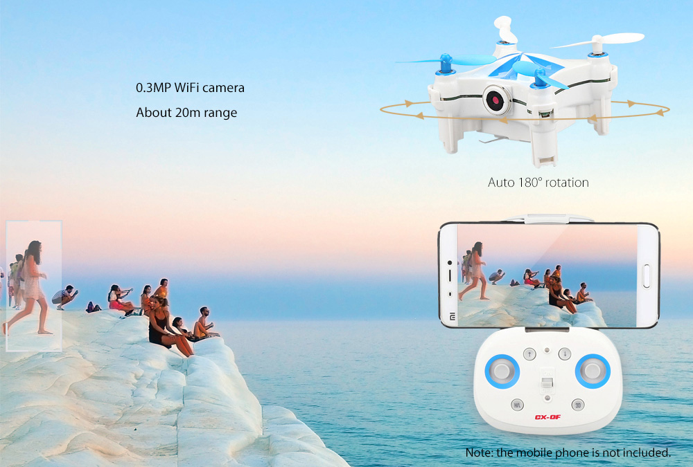 DWI Dowellin Optical Flow sensor mini camera drone selfie with follow palm function
