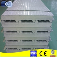 building wall pvc steel PU sandwich panel for roof