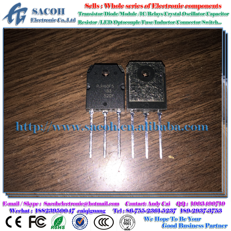 Electronic Components RJH60F5DPK RJH60F5 60F5 TO-3P 80A 600V Silicon N Channel IGBT Transistor High Speed Power Switching