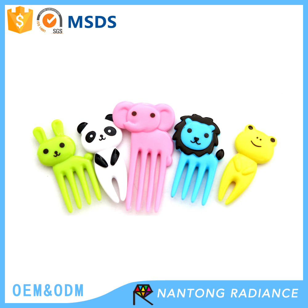 Amazon 40mm Party Supplies Cute Animal food Pick fruit fork