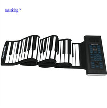 88 keys midi silicone electronic flexible hand roll up piano portable piano waterproof dry lithium battery