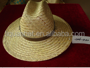 straw boater hats with lether belt