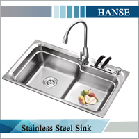K-8246 rectangular fiber undermount double bowl kitchen sink