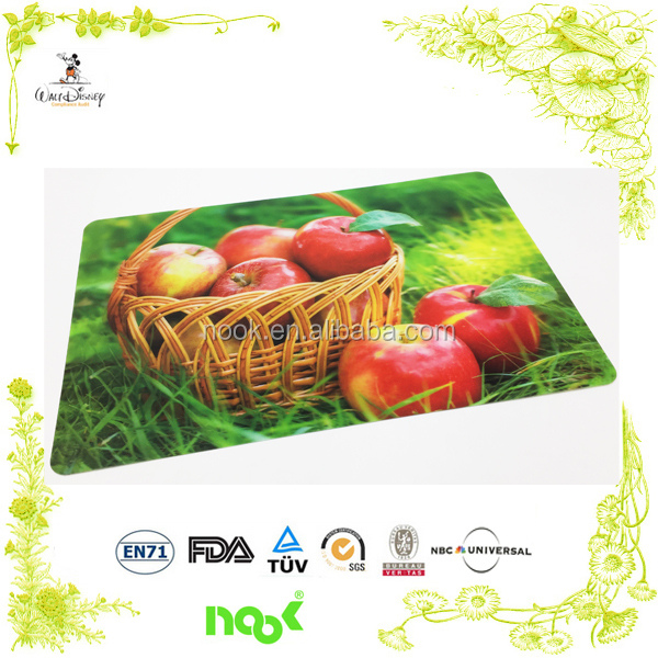 Hot selling eco-friendly kitchen advertising colorful promoting custom printed pp placemats
