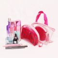 Women Printing Makeup Bag Set Transparent PVC Cosmetic Bag with zipper