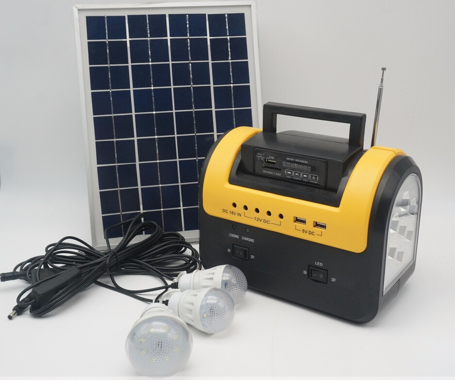 newest portable solar lighting kits for africa Radio and mp3 and fan Solar system