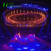 night club 360 view angle dmx rgb full color led tube lights double side leds