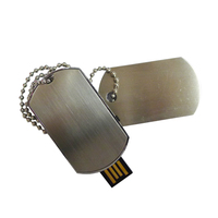 4gb 8gb 16gb 32gb full capacity giveaway waterproof metal necklace dog tag usb pen drive
