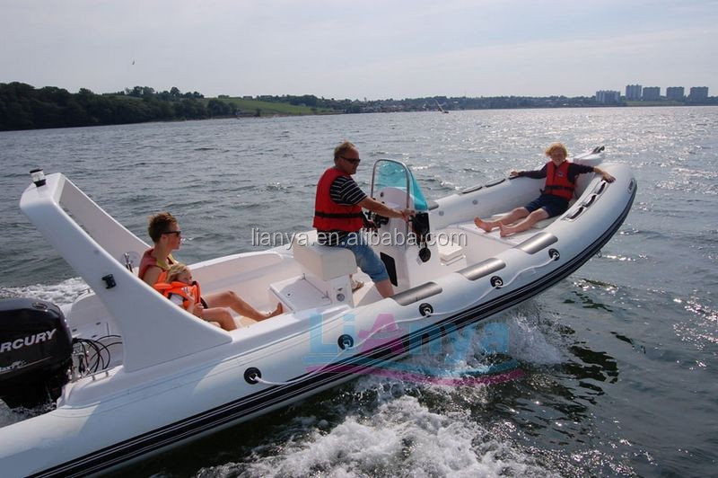 Liya 6.6m hypalon rigid inflatable boat high performance outboard boats rhib for sale