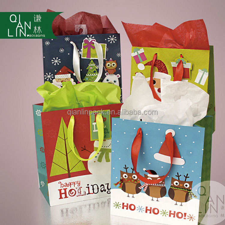 2016 New Design Christmas Them Gift Paper Bag