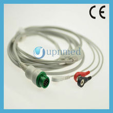 Mindray T5 3 lead ECG Cable with leadwires,AHA