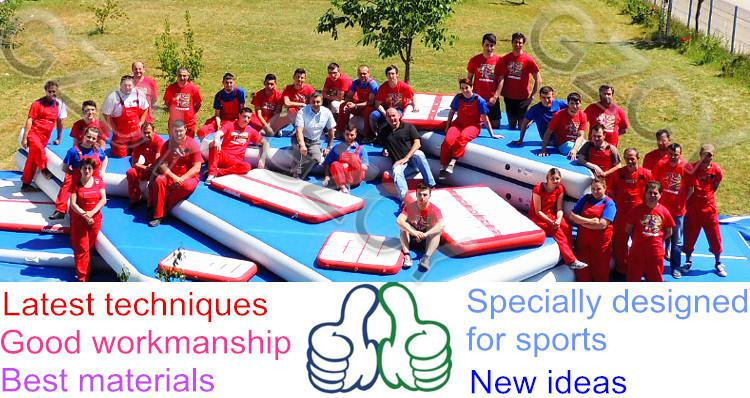 Outdoor inflatable tumble track inflatable air tumbling floor