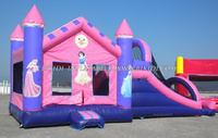 Inflatable princess bouncy castle for girls, kids inflatable bouncy castle, Inflatable combo B3039