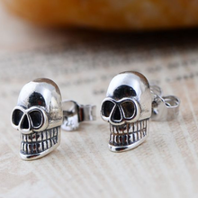 In Stock 925 Sterling Silver Skull Earrings Studs Set Small Rock Punk Gothic Vintage Jewelry For Men And Women (AE-051)
