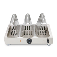 electric hongkong egg waffle warmer display snacks food warmer showcase for waffle bakery for sale