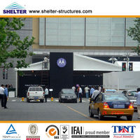 Guangzhou large clear span white top roof car storage tent sale in Guangzhou Shelter