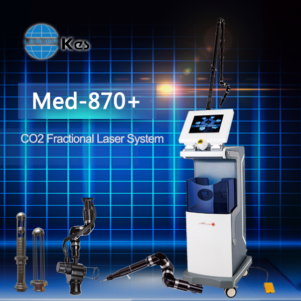 Vertical Co2 Fractional Laser Vagina Tightening with Medical CE RF drive Metal tube