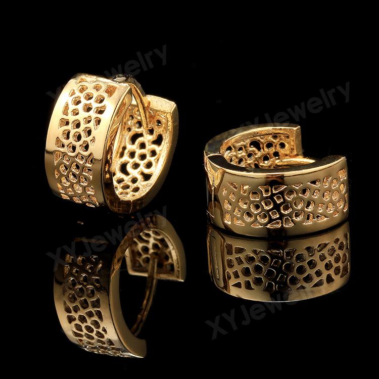18k Gold Rings Earrings Gold Earrings For Women Ring Type Earrings Make By Order