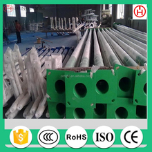 Power Coating Round Type Hot Dip Galvanized Street Lighting Pole 10m 10 meters