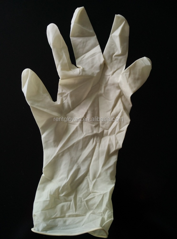 "New work product 12"" examination rubber latex medical gloves for industry/medical/cleaning/lab"