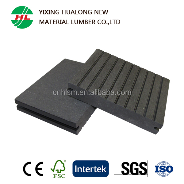 Solid Wood Plastic Composite/WPC Decking, Outdoor Flooring, Swimming Pool