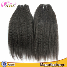XBL hair hot selling no tangle and shed grade 8A Cambodian vrigin remy kinky straight human hair extensions