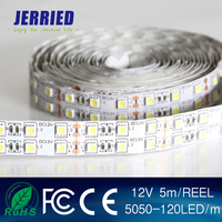 DC12v smd 5050 double line led strip light 120leds IP20 with CE ROHS