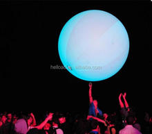 1-2m inflatable interactive zygote ball/ LED crowd ball for concert decoration