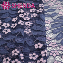 Wholesale lovely 2 colors african wedding cord lace fabrics for lace dress