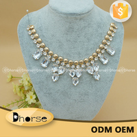 Fashion Accessories Golden Collar Bling Crystal