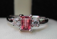 Silver 925 Gemstone Tourmaline Ring Jewelry Wholesale Factory in Thailand..!!