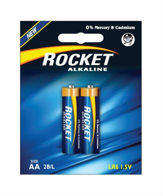 LR03, AAA size, 2 Blister packing, Alkaline
