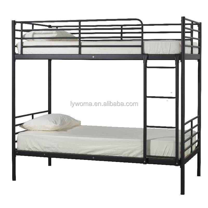 Factory direct sale home school use steel pipe folding bed for Cheap double bed frames under 50