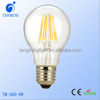 Energy Star A19 dimmable led light bulb Alibaba A60 8W E27 Led Filament Lamp Bulbs