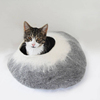 2017 new design high quality warmer wool felt pet bed for cat dog