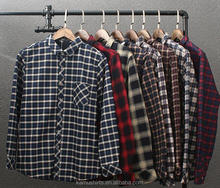 Mens padded quilted flannel check shirts