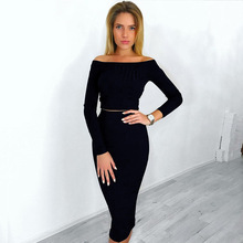 Cheap Women Pencil Skirt With Off-shoulder Top