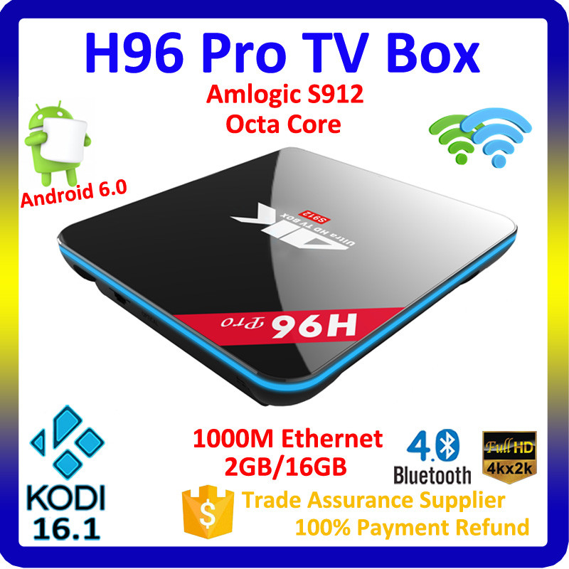 Play Store App Android 6.0 Marshmallow Tv Box 4K Octa Core Kodi 16.1 Amlogic S912 Smart Tv Box