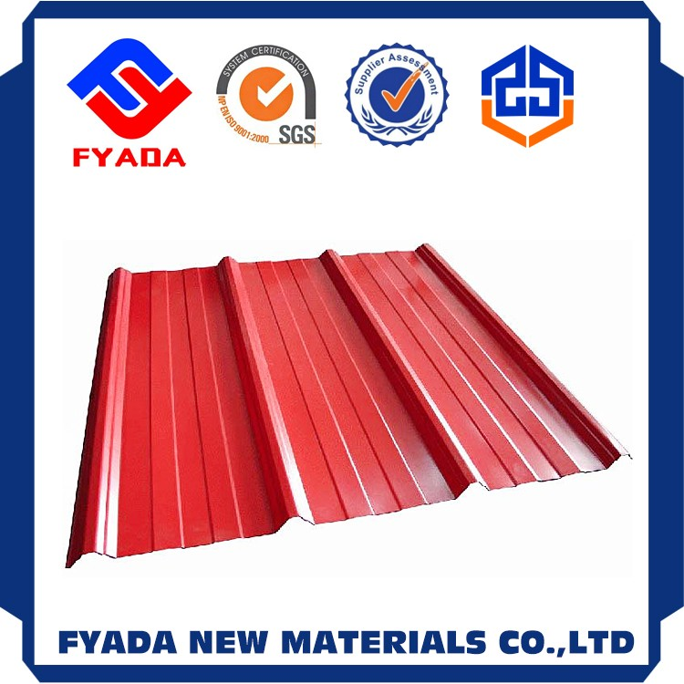 Hot rolled color corrugated metal roofing sheet