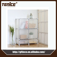 Tenice diy easy assemble plastic clothes cabinet wardrobe