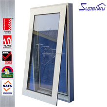 China Alibaba double glass cheap aluminum chain winder awning window