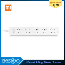 Xiaomi Mi 5 Power Sockets Smart Power Strip Plug Intelligent Electrical Power Adapter Independent Safety Door with Nonslip Mats